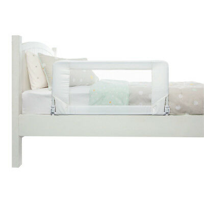 Folding Bed Rail Safety Barrier Toddler Guard Bedrail Down Crib Protects White