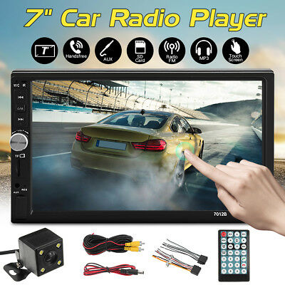 7'' DOUBLE 2Din Car Radio MP5 Stereo Player FM USB Bluetooth Touch Screen+Camera