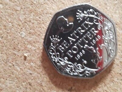 Beatrix Potter 150th Anniversary 50p. Uncirculated condition - Free Postage