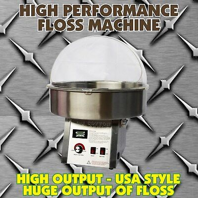 """Fairy Floss Machine 2019 MODEL - High Performance """"REAL"""" Commercial 1500W Gold"""