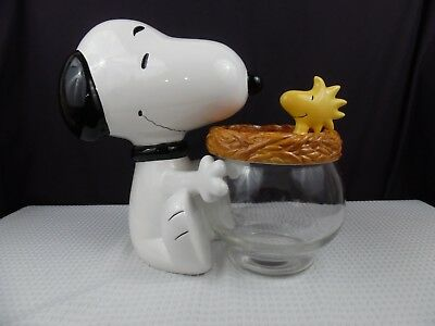 Treasure Craft Snoopy & Woodstock Cookie Jar Peanuts Collection 1990's Free Ship