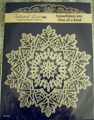 * stunning * SNOWFLAKES ARE ONE OF A KIND Die Set TLD0538 x Tattered Lace
