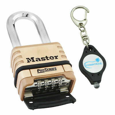 Master Lock 1175DLH ProSeries Brass Resettable Combination Padlock + Keychain