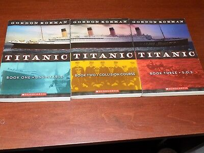 Titanic trilogy by Gordon Korman #1-3 Scholastic paperback