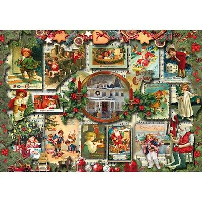 NEW! Wentworth Wooden Vintage Greetings 250 piece christmas jigsaw puzzle 812002