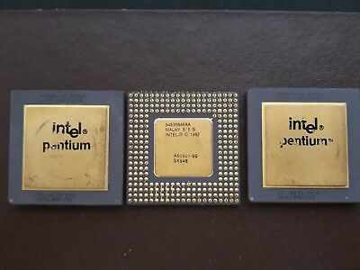 3Pcs Of LSI Rare Vintage Ceramic Gold Cap CPU Scrap For Recovery