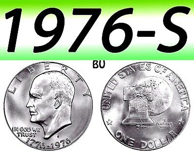 1976 S Eisenhower T-1 Proof Dollar Coin  40% Silver===Silver===Bu===