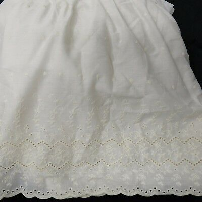 """Waverly Baby Embroidered Roses Eyelet Romantic Girl Bed Crib Skirt 14"""" Drop"""