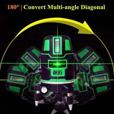 360-Degree Rotary Laser Level Cross Green Lines Automatic Self-Leveling Tool*K