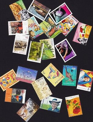 Australian $1 Postage 2 Stamps Combinations 55 & 45 cent Mint Full Gum F. V. $25