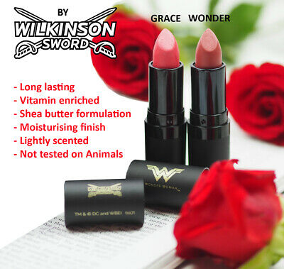 Wilkinson Sword LIMITED EDITION Wonder Woman Lipstick RRP £10 each Pink colours