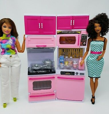 Barbie Doll Size Microwave And Utensils Glam Kitchen Accessories