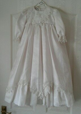 JUSTINA PEACH IVORY CHRISTENING GOWN SIZE 6-12 MONTHS BNWOT like sarah louise