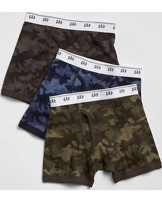 New Gap Kids Boys 3 Pack Boxer Briefs Underwear NWT Camo S 6 7 M 8 L 10 XL 12 14