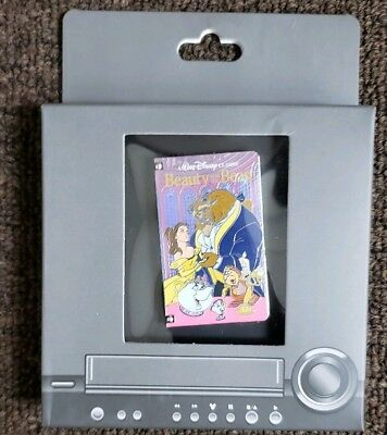 Disney Parks Beauty and the Beast VHS Tape Pin LE 1500 DLR