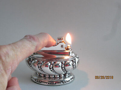 Vintage Ronson Crown Silver Plated Table Lighter