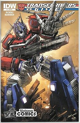 IDW Transformers vs GI Joe 1 Yesteryear Comics retailer exclusive variant cover