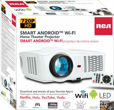 RCA RPJ129 Smart Wi-Fi LED Home Theater Projector 720P HD Quality