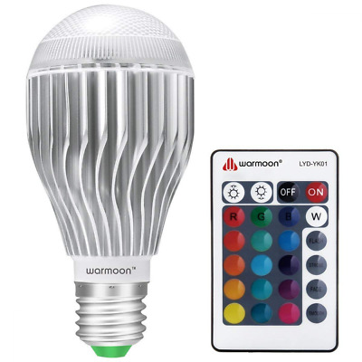 Remote Control 10W RGB Color Changing Dimmable Bulb E26 LED Light Bulbs NEW US