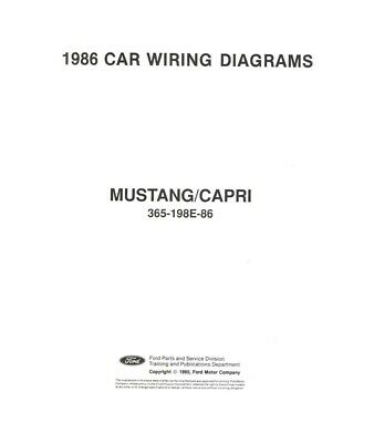 1993 Ford Mustang Electrical Wiring Diagrams Schematics Factory Oem 29 81 Picclick Uk