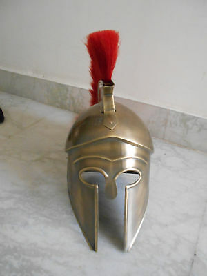 Medieval Greek Corinthian Helmet Antique 300 Movie Spartan gladiator with stand