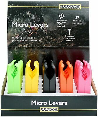 Pedro's Micro Lever 25x2 Pack 5 Color Counter Display Yellow Pink Green Orange