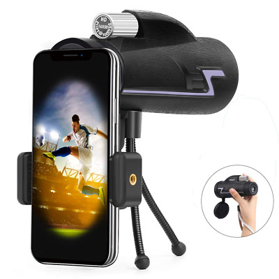 Portable Shockproof Waterproof Monocular Telescope Prism 16X50 iPhone Holder NEW