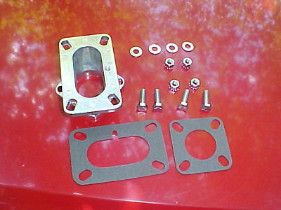 2 barrel carb to 1 barrel manifold adapter,rat rod,chevy ford jeep 258 #2-10