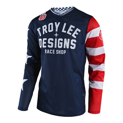 Troy Lee Designs Youth Americana Flag & Stars GP Air Motocross Navy Jersey  Kids