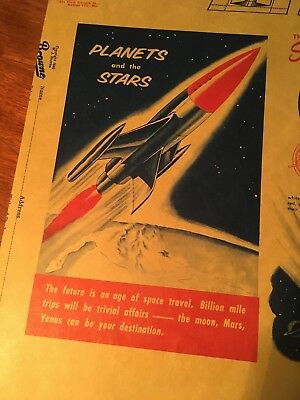 Coca Cola 1940 Refresh Add Zest Planets And Stars Space Travel Book Cover Paper