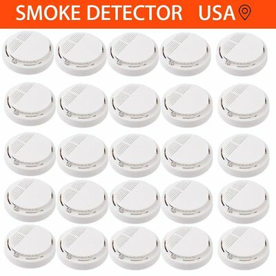1~50PC Wireless Fire Smoke Sensor Detector Alarm Tester Home Security White LOT