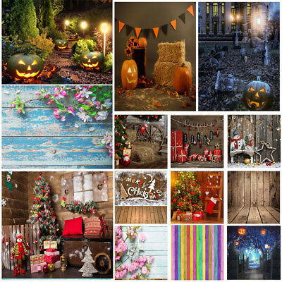 Studio Photo Photography Backdrop Wood Brick Wall Christmas Halloween Background