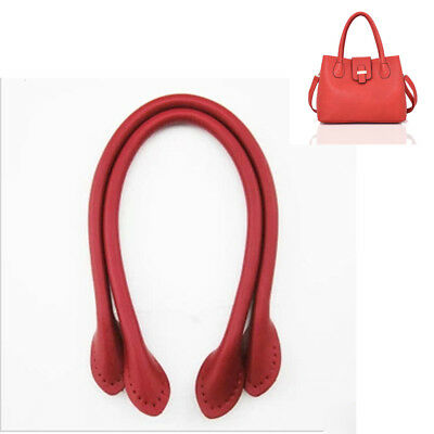 2pcs Leather Handbag Handles for Bag Sewing or Handle Replacement Durable 3Color