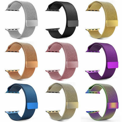 US For 38-44MM Apple Watch Series 1 2 3 4 5 Strap Stainless Milanese iWatch Band