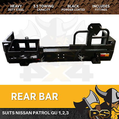Nissan Patrol GU Series 1,2,3 Rear Bar Spare Wheel Carrier Dual Heavy Duty