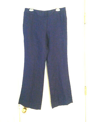 Ann Taylor LOFT 100% Linen Julie Trouser Dress Pants Slacks Women's PETITE Sz 8P