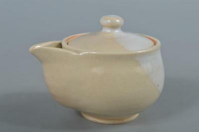 R3731: Japanese Hagi-ware White glaze TEA POT Houhin Sencha, Tea Ceremony