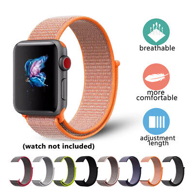 New Nylon Woven Sport Loop Bracelet Watch Band Strap For Apple iWatch 38mm 42mm