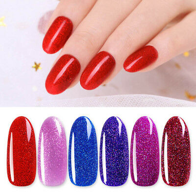 Harunouta 12ml Glitter Gel Polish Shining Sequins Soak Off Nail UV Gel Varnish