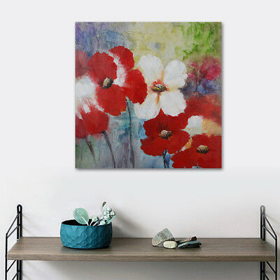 Wall Art Decor Beautiful Flower On Canvas Modern Framed Oil Painting 80x80cm