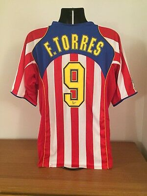 Atletico Madrid Home Shirt 2004/05 *TORRES 9* XL Vintage Rare