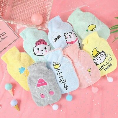 Thick Cartoon Hot Water Bottle Cover Heat Warmer Bag Bed Small Hand Cute Cover
