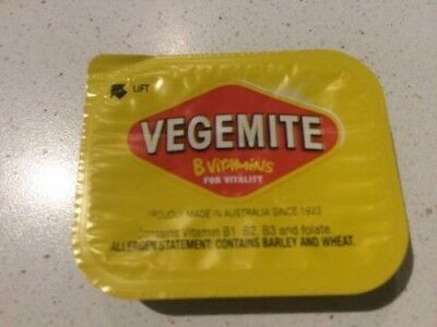 VEGEMITE - 15  x  9.6 GRAM PORTIONS = 2 SERVES PER PORTION