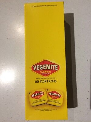 VEGEMITE - BOX OF 60  x  9.6 GRAM PORTIONS = 2 SERVES PER PORTION