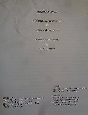 THE WHITE HOTEL SCREENPLAY TREATMENT by Joan Juliet Buck. From D M Thomas novel