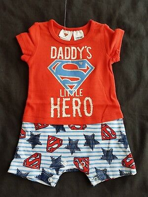 Boys new SUPERMAN romper size 0000