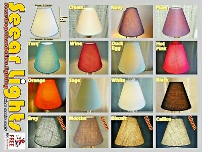 "Candle Size 5.5"" Chandelier Lampshades Clip On Pendant Wall Light Coolie Shade"