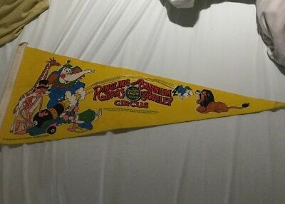 Vintage Ringling Bros And Barnum Bailey Circus Pennant 1982