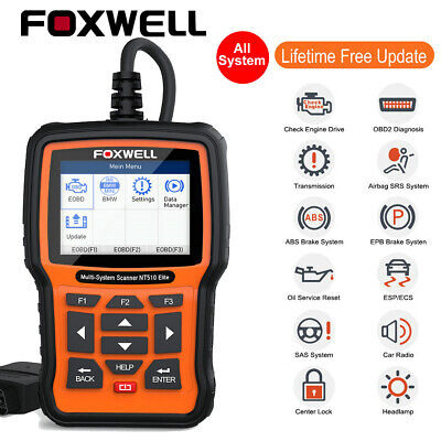 Foxwell NT520PRO OBDII Car Scanner Full System ABS Airbag EPB Oil Reset For BMW