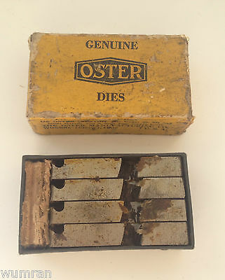 """New In Box Old Stock Oster Die Set U.s.a. 1 1/2"""" & 2"""" Pipe Threading"""